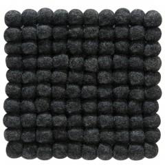 Liesta-Filzkugel-Untersetzer-schwarz-Black-20x20-pla