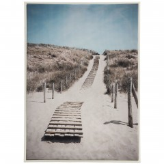 TotheBeach-Leinwandbild-beige-Grau-50x70-pla