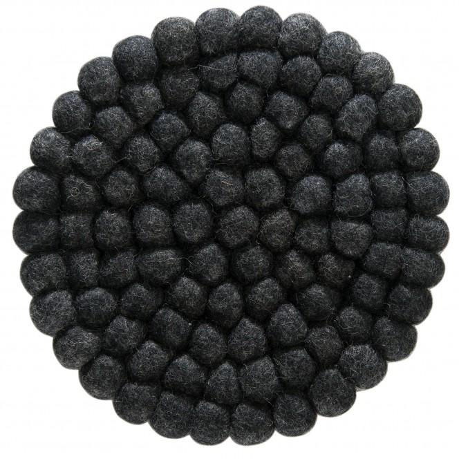 Liesta-Filzkugel-Untersetzer-schwarz-Black-20rund-pla