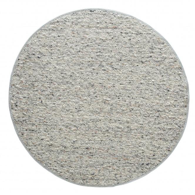 Lenggris-HandwebTeppich-grau-rund-pla