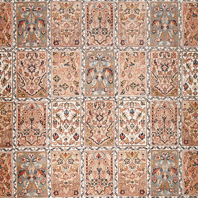JahidpurBachtiar-OrientTeppich-Braun-NaturBeige-lup