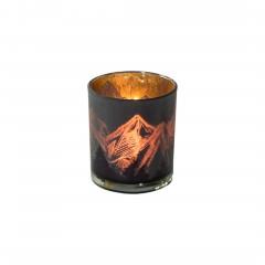 Berge-Teelichthalter-Braun-Gold-7x7x8-per2