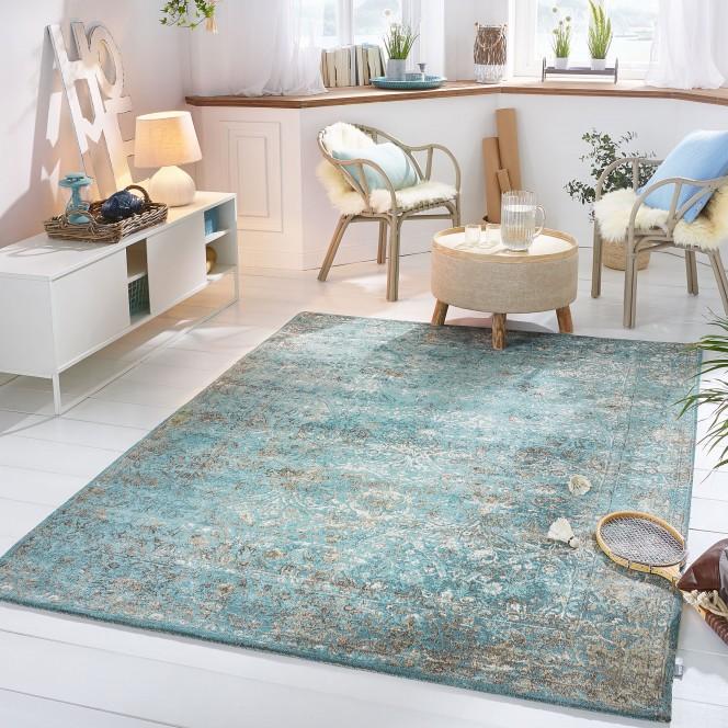 Fabriano Vintage Teppich Von Kibek In Grün