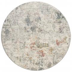Calanthe-VintageTeppich-Beige-Silber-200rund-pla