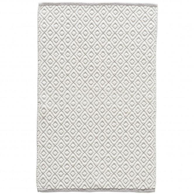 Nerja-Badteppich-Hellgrau-Silber-60x100-pla