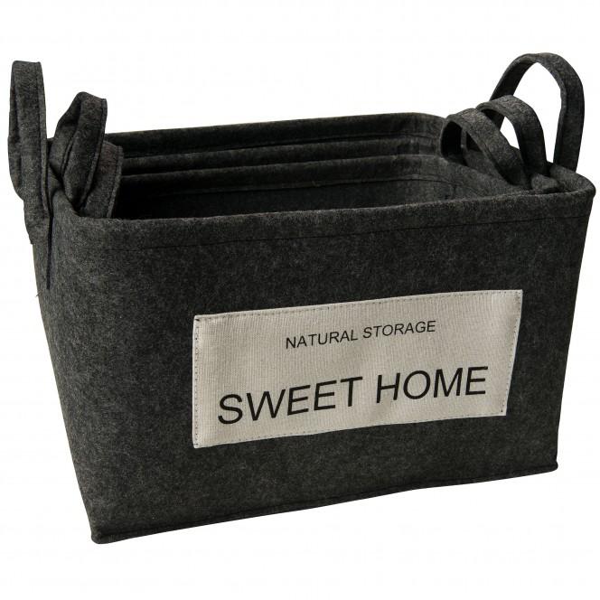 SweetHome-Korb-Dunkelgrau-Set-per