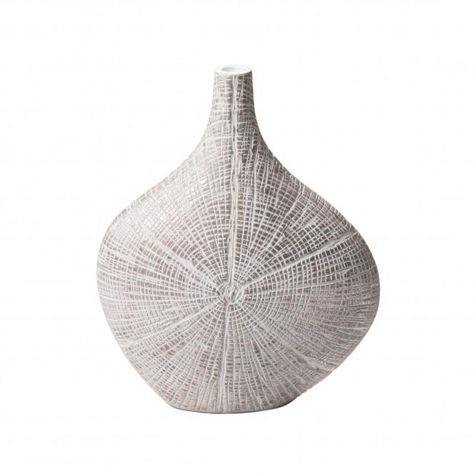 Spinnennetz-Vase-Weiss-11x26x32-per