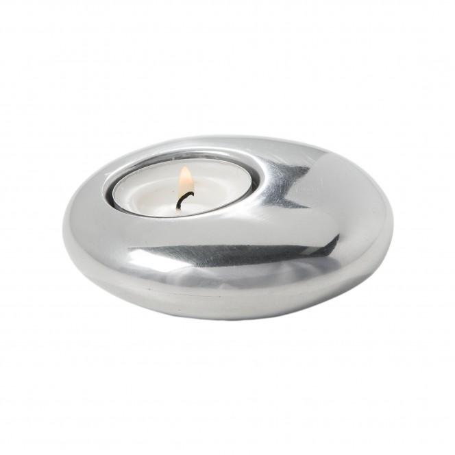 Offcentre-Teelichthalter-Silber-10x10x3-per