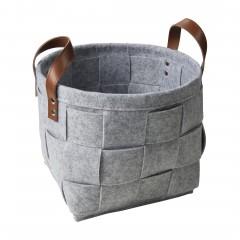 Flechtbox-Korb-Hellgrau-25x25x20-per