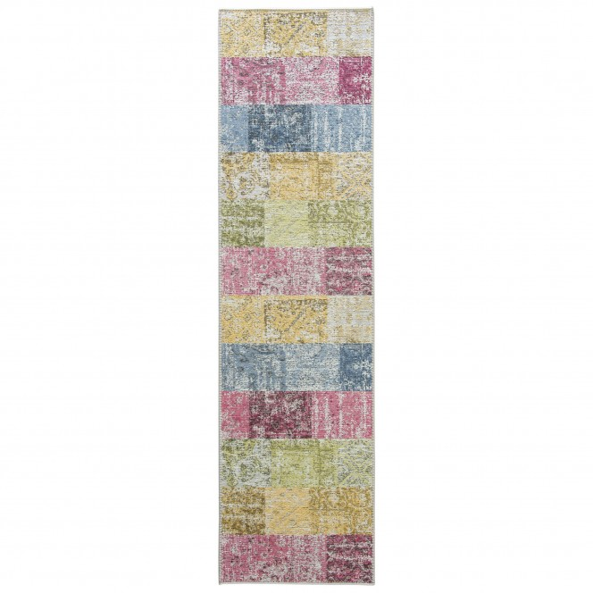 Doncaster-VintageTeppich-mehrfarbig-Multicolor-80x300-pla