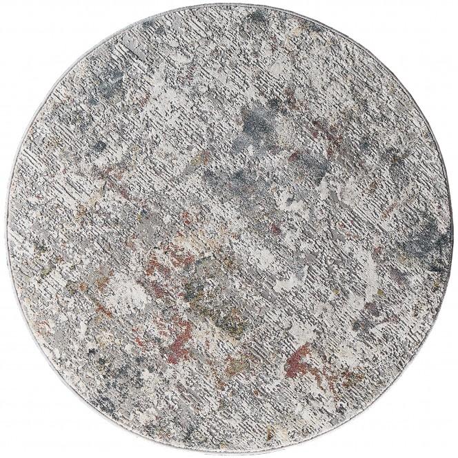 Calanthe-VintageTeppich-Grau-Dunkelgrau-160rund-pla