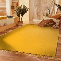 Summerweave-Handwebteppich-gelb-Sonnengelb-170x240-mil