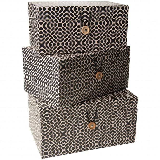 GeschenkboxBob-Box-Schwarz-Set-Stapel-per