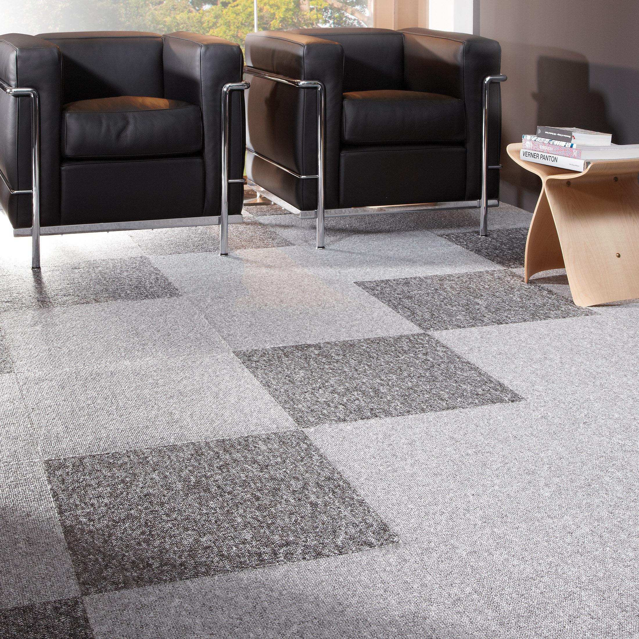 Teppichboden Fliesen von Kibek London in Grau 50 x 50 cm