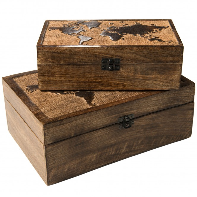 WorldMapBox-Box-Braun-Set-Stapel-per
