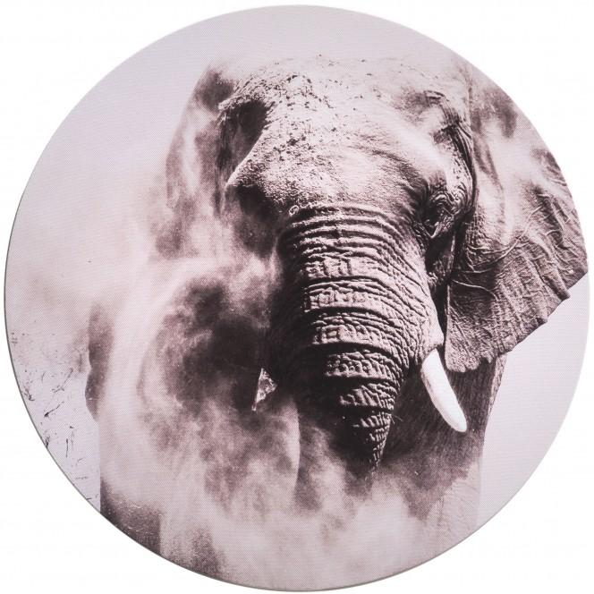 Canvas3er-Bild-Afrika-grau-Multicolor-40rund-pla