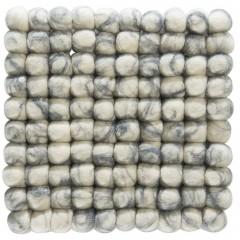 Liesta-Filzkugel-Untersetzer-grau-GreyNatural-20x20-pla