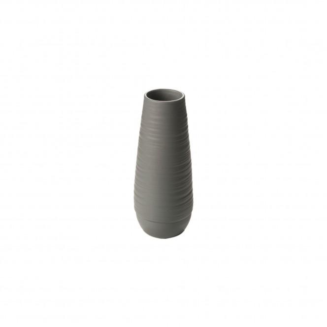 Leshan-DekoVase-Grau-12x12x30-per