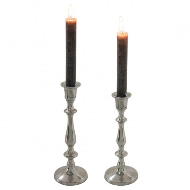 Shiny-Kerzenleuchter-Silber-Serie-per