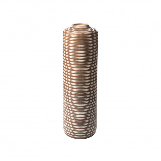 Kaili-DekoVase-Braun-18x18x57,5-per