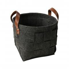 Flechtbox-Korb-Dunkelgrau-25x25x20-per